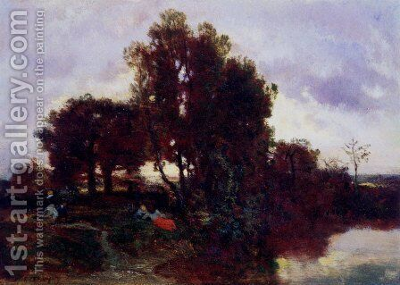 On The Farm by Constant Troyon - Reproduction Oil Painting