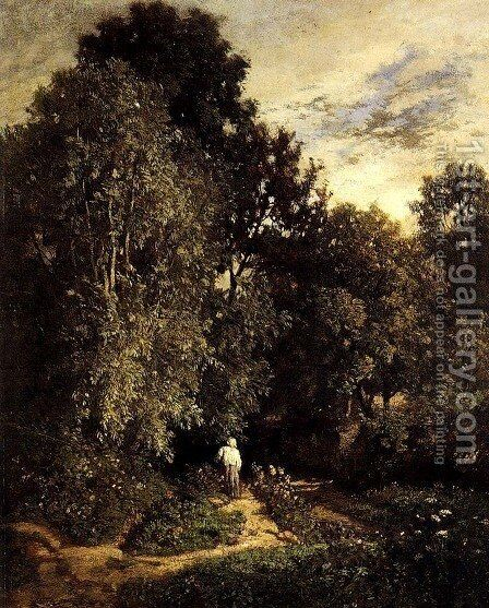Path In A Small Wood by Constant Troyon - Reproduction Oil Painting