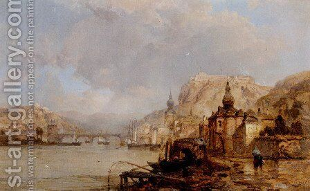 Dinant  Belgium by James Webb - Reproduction Oil Painting