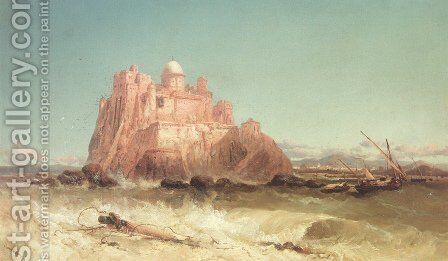 In The Mediterrean by James Webb - Reproduction Oil Painting