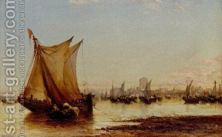 On The Coast Of Holland by James Webb - Reproduction Oil Painting