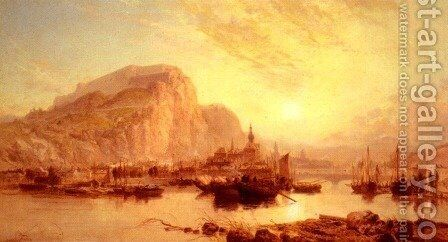 View Of Dinant  Belgium by James Webb - Reproduction Oil Painting