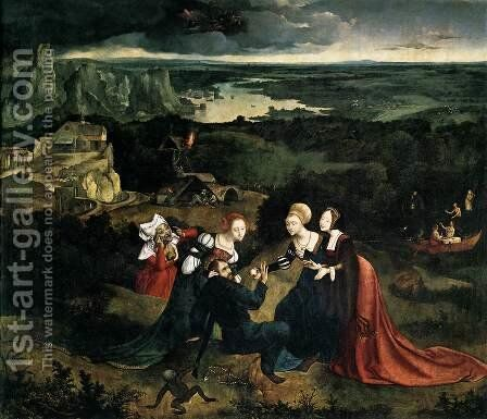 Temptation of St Anthony c. 1515 by Joachim Patenier (Patinir) - Reproduction Oil Painting