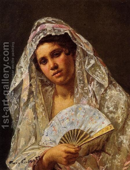 A Seville Belle by Mary Cassatt - Reproduction Oil Painting