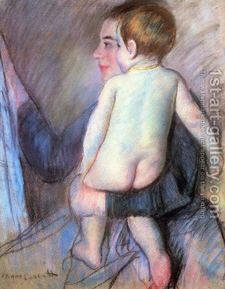 At The Window by Mary Cassatt - Reproduction Oil Painting