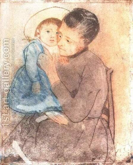Baby Bill by Mary Cassatt - Reproduction Oil Painting