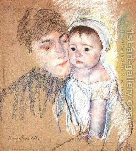 Baby Bill In Cap And Shift by Mary Cassatt - Reproduction Oil Painting