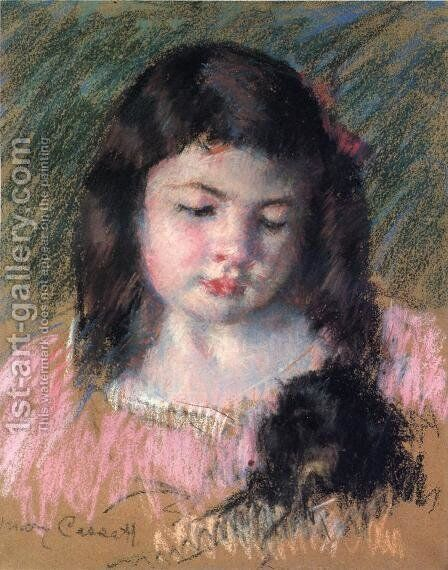 Bust Of Francoise Looking Down by Mary Cassatt - Reproduction Oil Painting