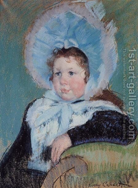Dorothy In A Very Large Bonnet And A Dark Coat by Mary Cassatt - Reproduction Oil Painting