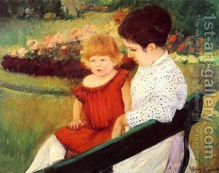 In The Park by Mary Cassatt - Reproduction Oil Painting