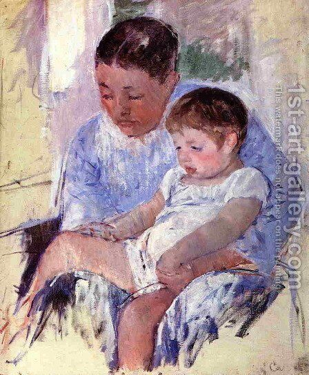 Jenny And Her Sleepy Child by Mary Cassatt - Reproduction Oil Painting