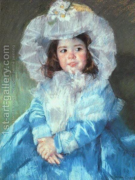 Margot In Blue by Mary Cassatt - Reproduction Oil Painting