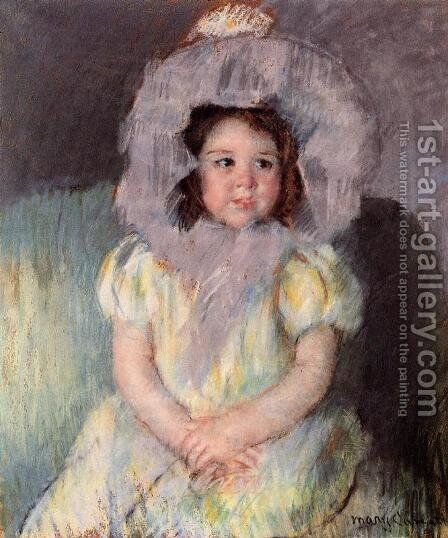 Margot In White by Mary Cassatt - Reproduction Oil Painting