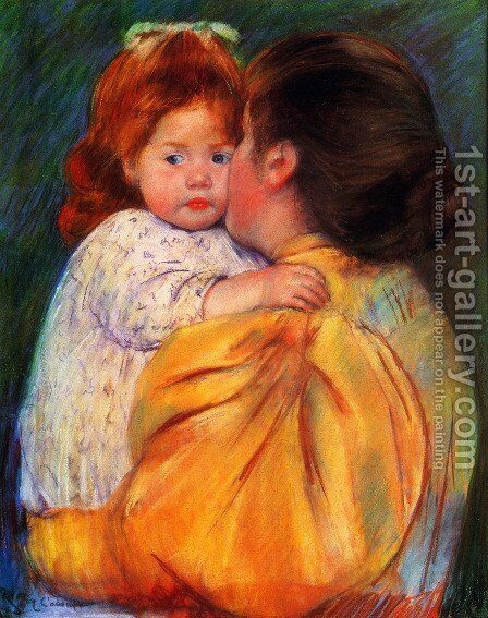 Maternal Kiss by Mary Cassatt - Reproduction Oil Painting