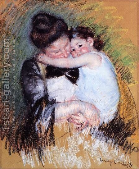Mother And Child2 by Mary Cassatt - Reproduction Oil Painting