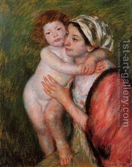 Mother And Child4 by Mary Cassatt - Reproduction Oil Painting