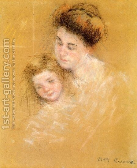 Mother And Child6 by Mary Cassatt - Reproduction Oil Painting
