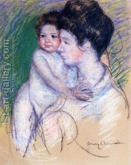 Motherhood3 by Mary Cassatt - Reproduction Oil Painting