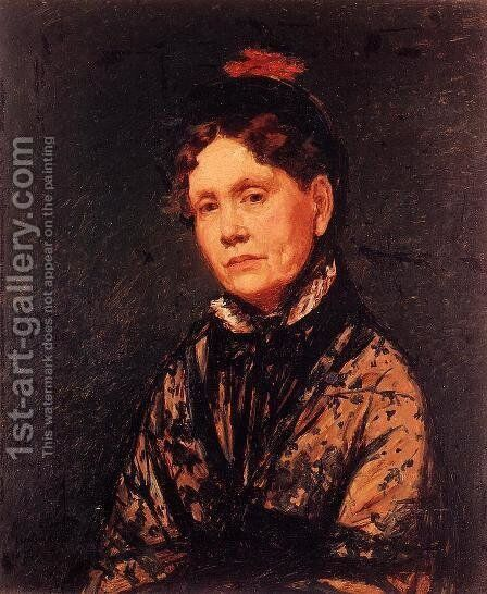 Mrs Robert Simpson Cassatt by Mary Cassatt - Reproduction Oil Painting