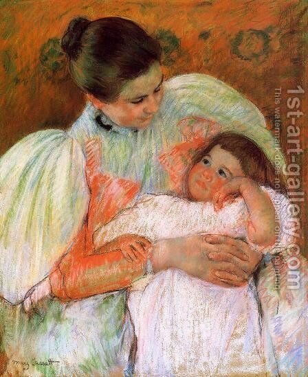 Nurse And Child by Mary Cassatt - Reproduction Oil Painting