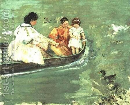 On The Water by Mary Cassatt - Reproduction Oil Painting