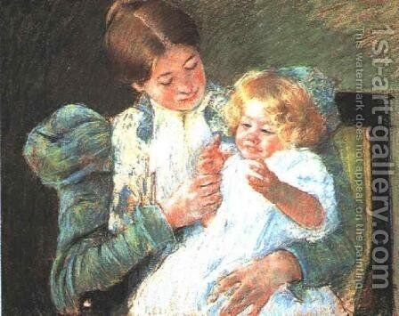 Pattycake by Mary Cassatt - Reproduction Oil Painting
