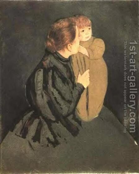 Peasant Mother And Child by Mary Cassatt - Reproduction Oil Painting