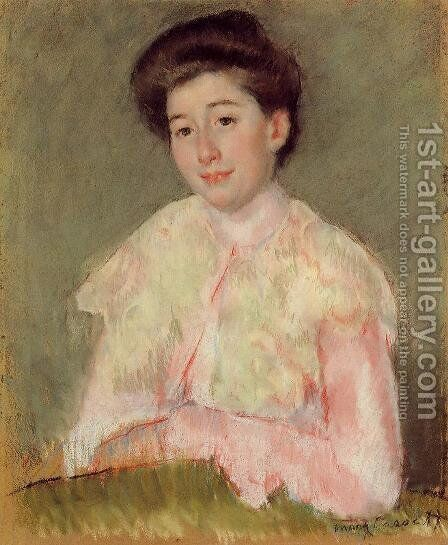 Portrait Of A Lady by Mary Cassatt - Reproduction Oil Painting