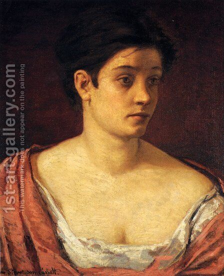 Portrait Of A Woman by Mary Cassatt - Reproduction Oil Painting