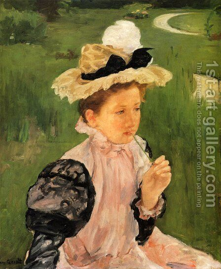 Portrait Of A Young Girl by Mary Cassatt - Reproduction Oil Painting