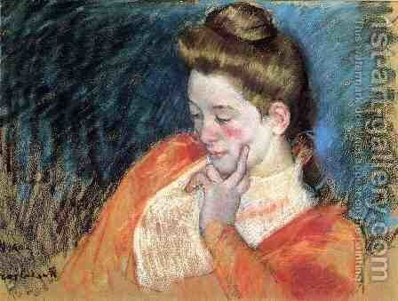 Portrait Of A Young Woman by Mary Cassatt - Reproduction Oil Painting