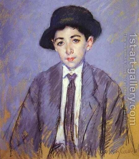 Portrait Of Charles Dikran Kelekian At Age 12 by Mary Cassatt - Reproduction Oil Painting