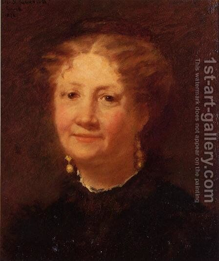 Portrait Of Madame Cordier by Mary Cassatt - Reproduction Oil Painting