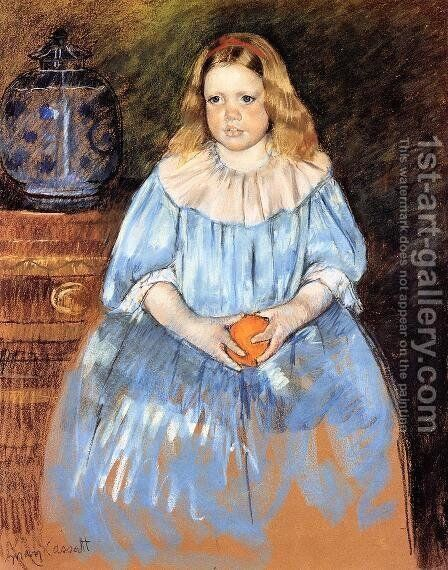 Portrait Of Margaret Milligan Sloan by Mary Cassatt - Reproduction Oil Painting