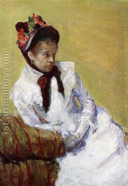 Portrait Of The Artist by Mary Cassatt - Reproduction Oil Painting