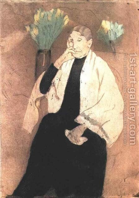 Portrait Of The Artists Mother by Mary Cassatt - Reproduction Oil Painting