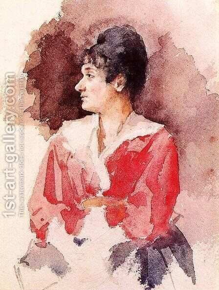 Profile Of An Italian Woman by Mary Cassatt - Reproduction Oil Painting