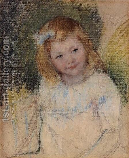 Sara Looking Towards The Right by Mary Cassatt - Reproduction Oil Painting