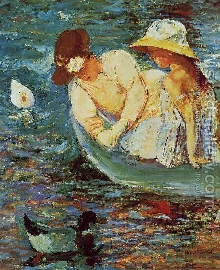 Summertime by Mary Cassatt - Reproduction Oil Painting