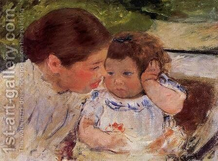 Susan Comforting The Baby by Mary Cassatt - Reproduction Oil Painting