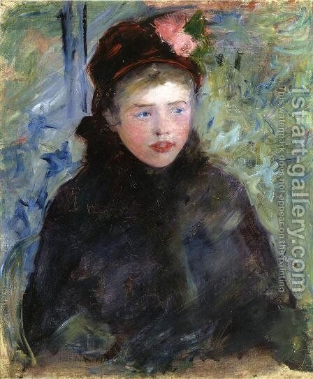 Susan In A Toque Trimmed With Two Roses by Mary Cassatt - Reproduction Oil Painting