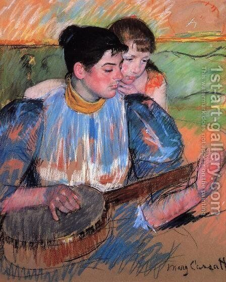 The Banjo Lesson by Mary Cassatt - Reproduction Oil Painting