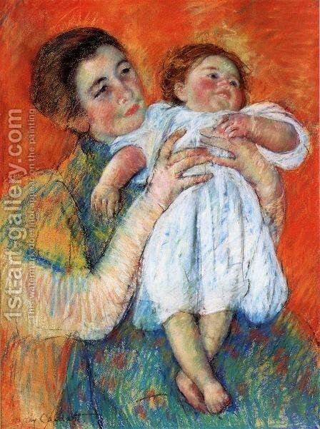 The Barefoot Child2 by Mary Cassatt - Reproduction Oil Painting