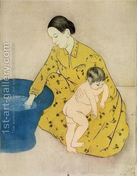 The Childs Bath by Mary Cassatt - Reproduction Oil Painting