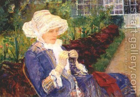 The Garden by Mary Cassatt - Reproduction Oil Painting