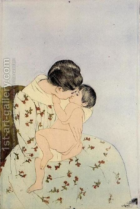 The Kiss by Mary Cassatt - Reproduction Oil Painting