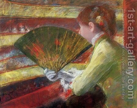 Theater by Mary Cassatt - Reproduction Oil Painting