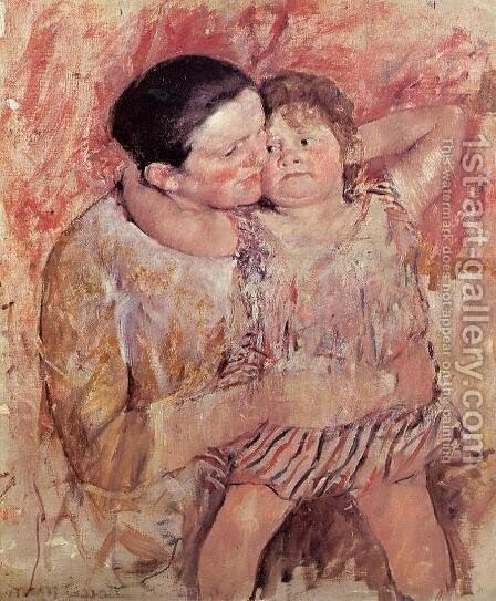 Woman And Child by Mary Cassatt - Reproduction Oil Painting