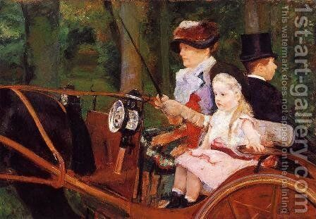 Woman And Child Driving by Mary Cassatt - Reproduction Oil Painting