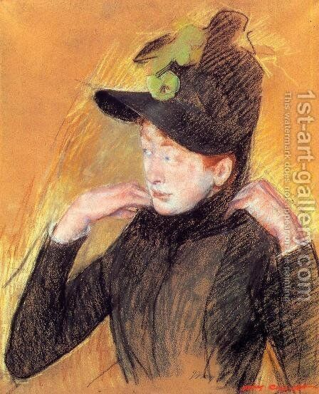 Woman Arranging Her Veil by Mary Cassatt - Reproduction Oil Painting